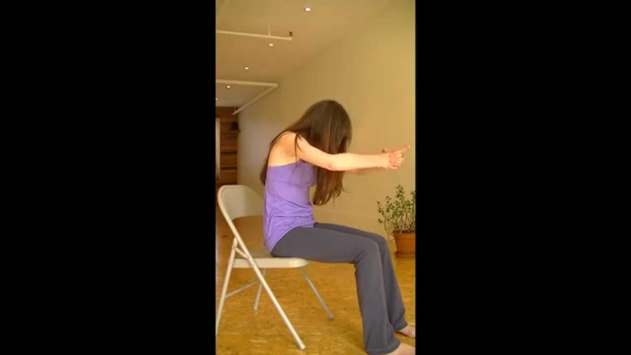 Yoga sur chaise avec virginie 10 minutes youtube for Chaise 5 5 designers