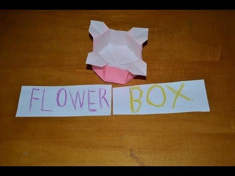 Origami Cactus / Flower Holder (for Masu Box) - Paper Kawaii - YouTube   360x480