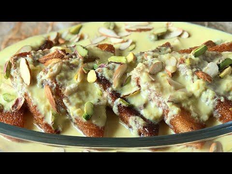 Shahi tukda recipe Hyderabadi shahi tukda recipe