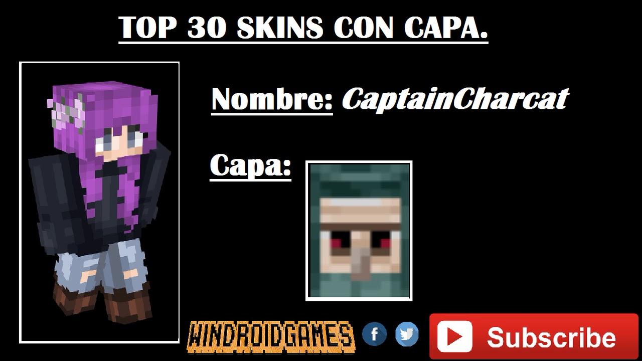TOP DE LAS MEJORES SKIN CON CAPA PARA MINECRAFT MUJERESHOMBRES - Skins para minecraft 1 8 con capa