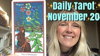 Daily Tarot November 20,  2018 ~ God Or Mammon?