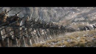 Эльфы и гномы сражаются бок о бок против общего врага. HD