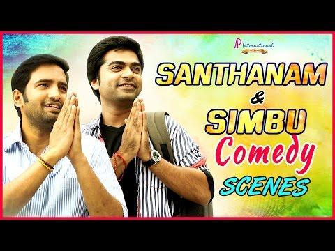 Santhanam Simbu Comedy Scenes   Tamil Movie Comedy Scenes   Vaalu   Osthi