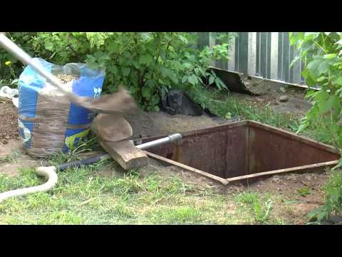Утилизация содержимого дачного туалета (вар. №2)