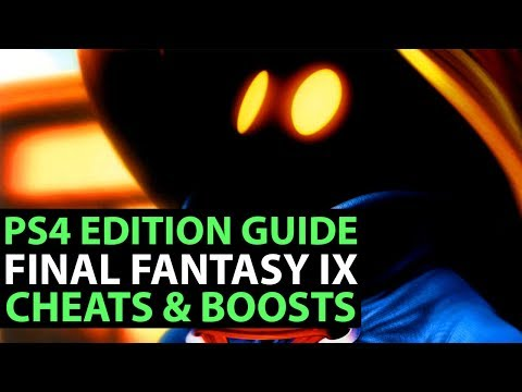 Final Fantasy IX PS4 Gameplay - CHEATS GUIDE - HOW TO ACCESS IN-GAME CHEATS & BOOSTERS!