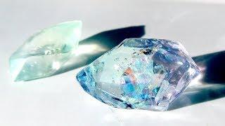 【UVレジン】100均材料でオーロラ色の鉱石レジンを作りました!ore resin DIY