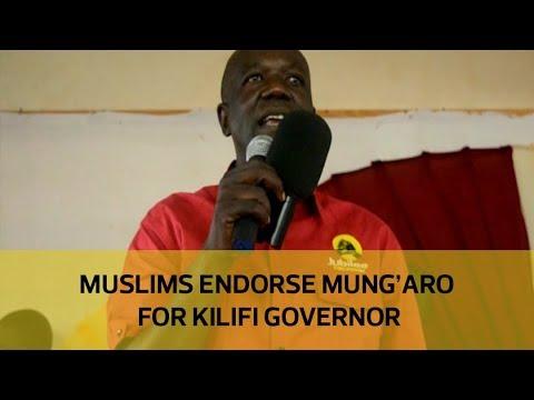 Muslims endorse Mungaro for Kilifi governor