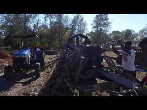 Cooking sugar cane syrup 2016, Kelly Settlement, Forrest County Mississippi, Part 2