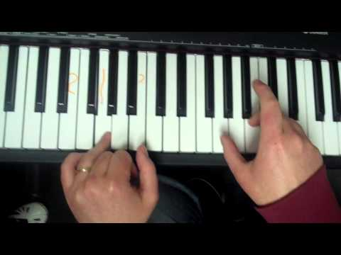 coldplay trouble chords on piano