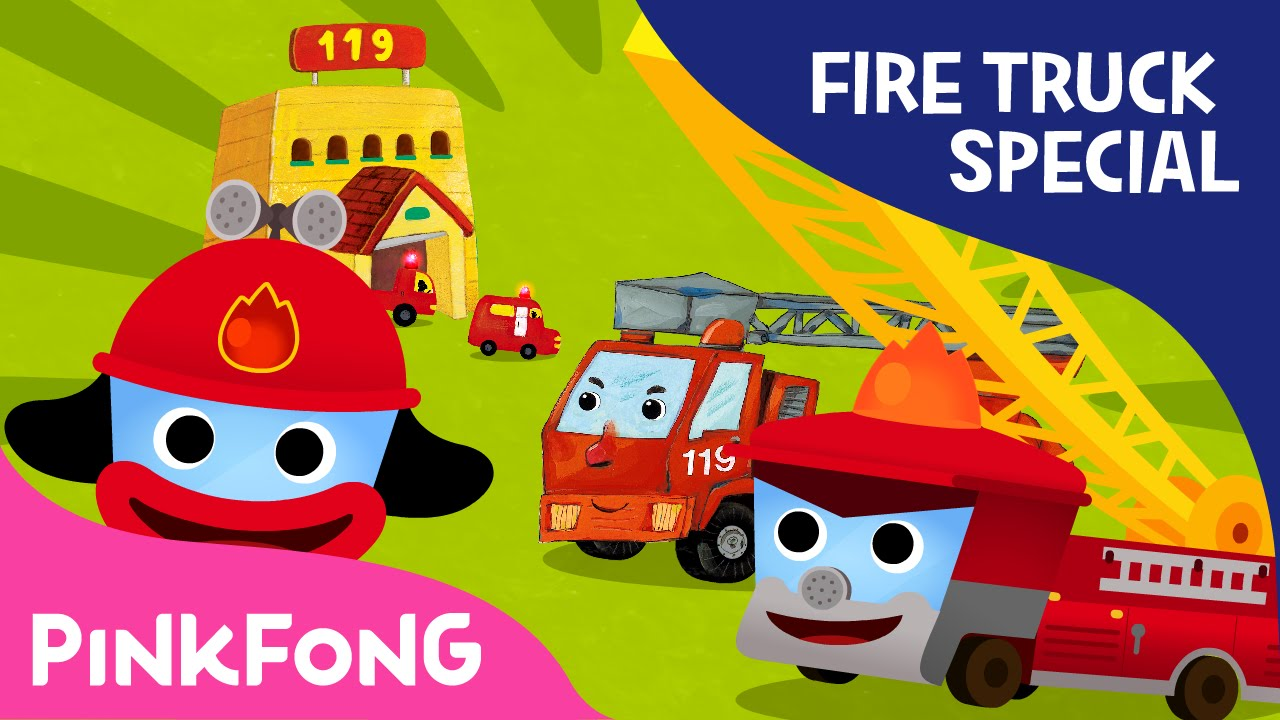 Fire Truck SPECIAL | Car Songs & Stories & Mini Games | + Compilation | PINKFONG Songs for C