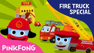 Fire Truck SPECIAL  Car Songs \u0026 Stories \u0026 Mini Games  + Compilation  PINKFONG Songs for Children