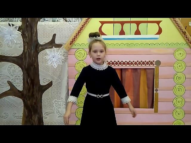 Изображение предпросмотра прочтения – МиланаЧапаева читает произведение «Поёт зима— аукает…» С.А.Есенина