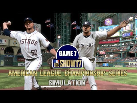 MLB The Show 17 | Yankees vs Astros American League Championship Series Game 7 Simulation
