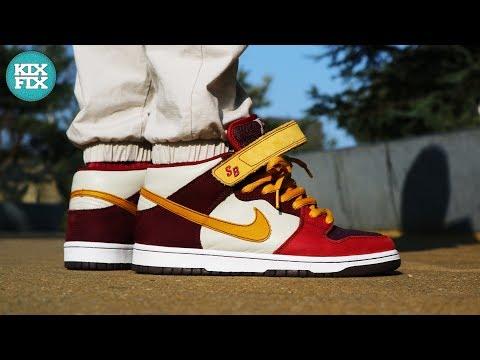 Nike SB Dunk Mid Deep Burgundy Review & On Feet #20 KixFix