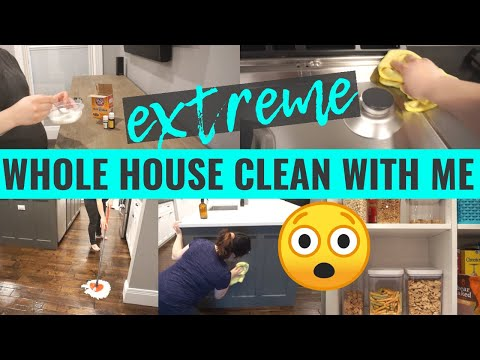 *EXTREME* WHOLE HOUSE CLEAN WITH ME 2020 | ALL DAY SPEED CLEANING MOTIVATION | DEEP CLEANING ROUTINE