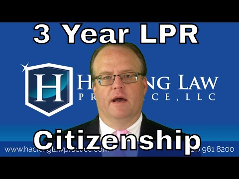 3 Yr LPR File for Citizenship