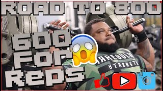 600 LBS B.P FOR MULTIPLE REPS! | ROAD TO 800 | *MUST WATCH* | IRREGULAR STRENGTH | JULIUS MADDOX
