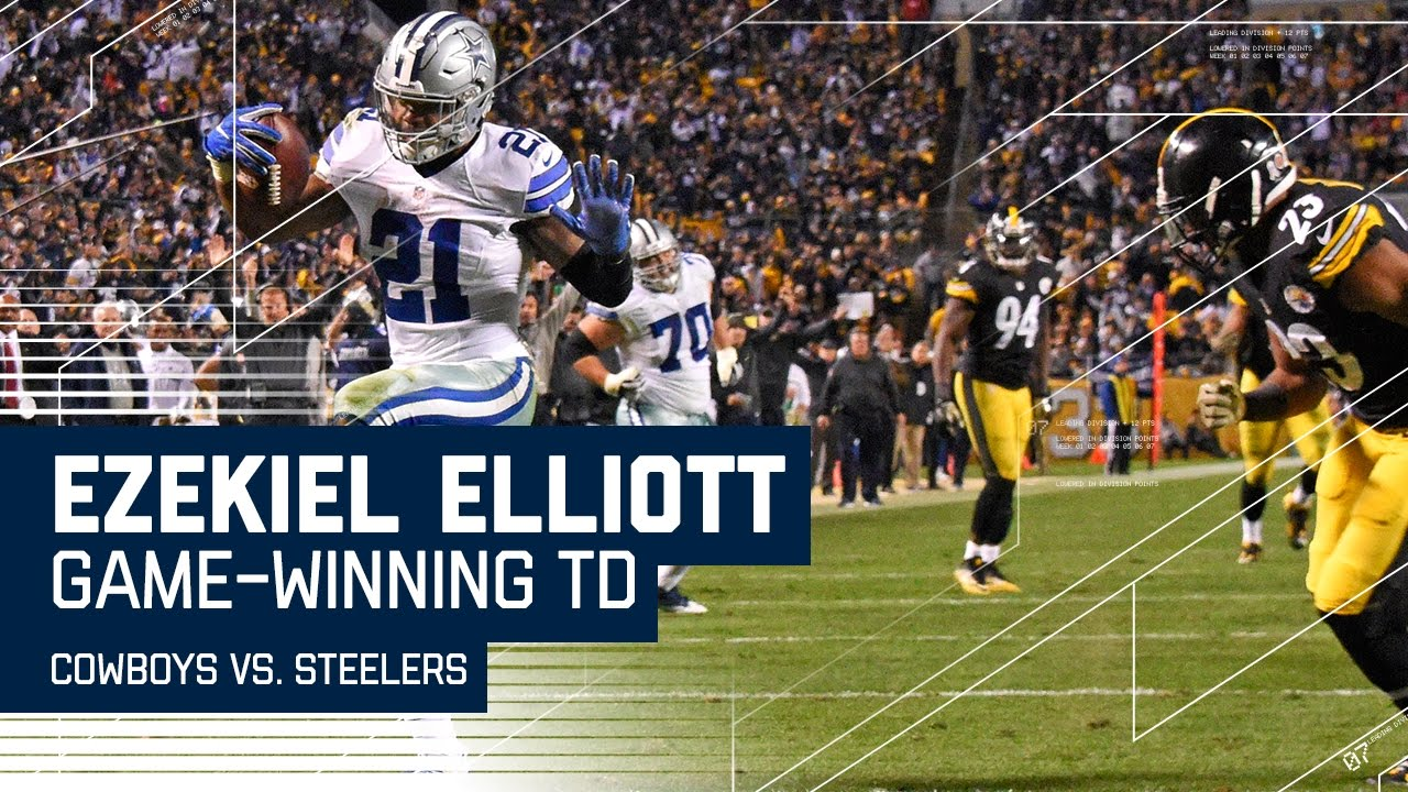 3cc5abc2 Ezekiel Elliott Wins Game with Clutch TD Run! | Cowboys vs. Steelers | NFL  - YouTube