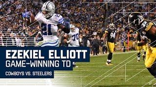 Ezekiel Elliott Wins Game with Clutch TD Run! | Cowboys vs. Steelers | NFL