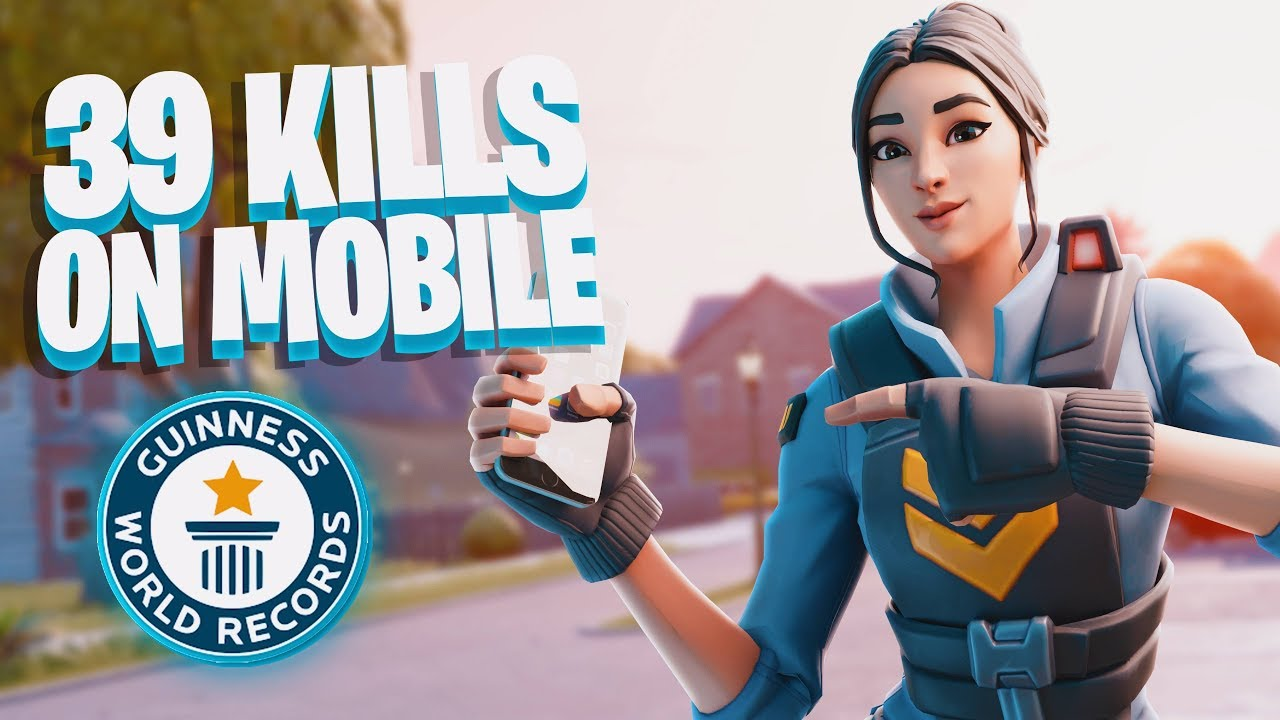 World Record Most Kills EVER on Mobile Fortnite... (39 ...