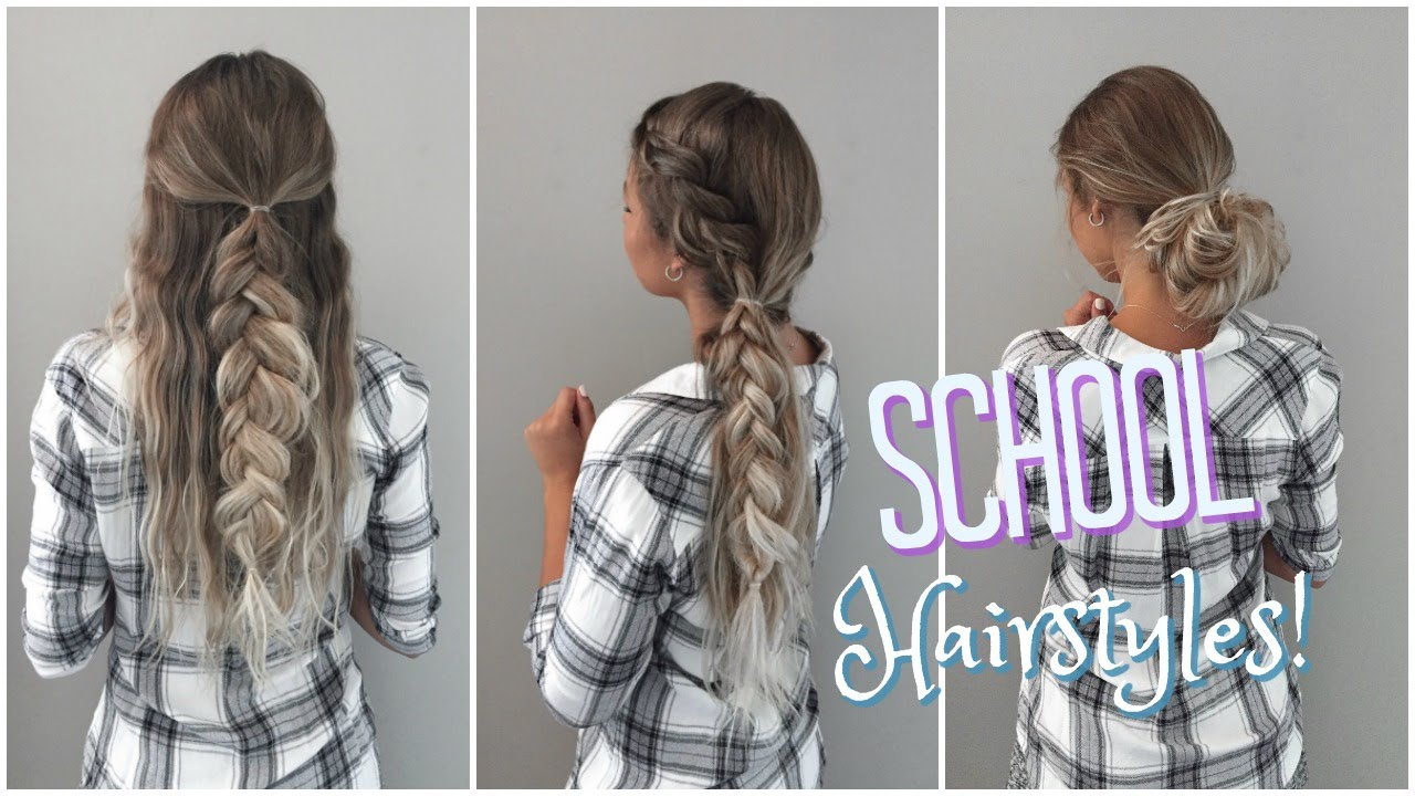 quick & easy no heat hairstyles! // back to school - youtube