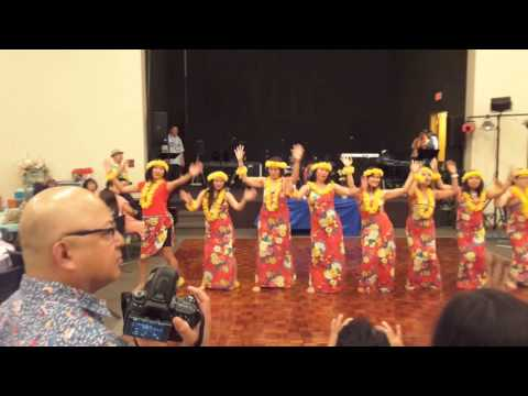 The EL SHADDAI sisters of Bolingbrook Chapter in Hawaiian dance, Pearly Shell/Tiny Bubbles
