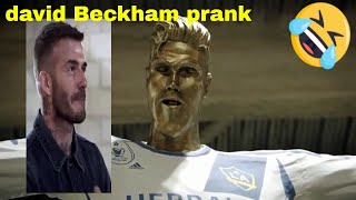 football star David Beckham pranked statue