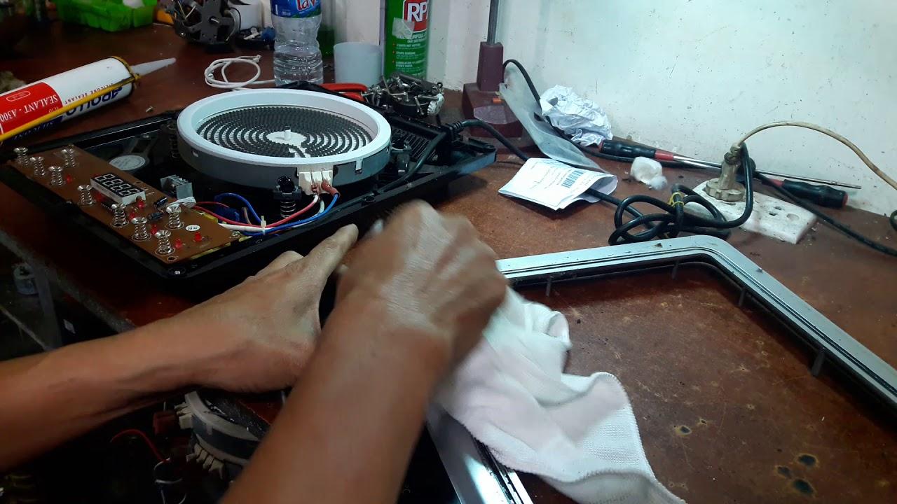 Hướng dẫn cách dán mặt kính ( hoặc thay kính mới) bếp hồng ngoại  Sanaky chia sẻ thực tế.0909106234