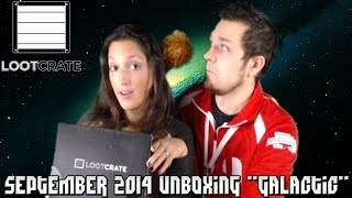 "Loot Crate: September 2014 ""Galactic"" Unboxing! Star Trek, Firefly, Star Wars, & More!"