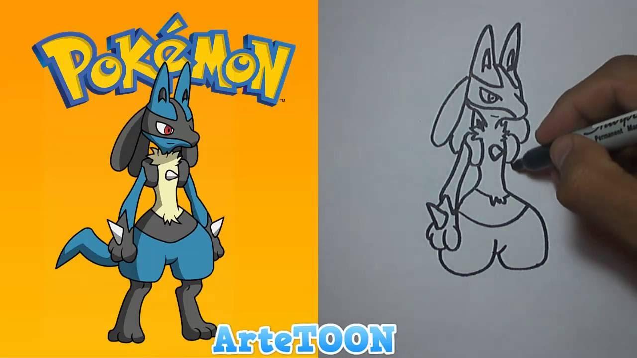 Cmo Dibujar A Lucario Pokmon How To Draw Lucario