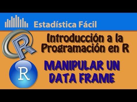 Manipular un Data Frame (attach y detach)   Introducción a la Programación en R
