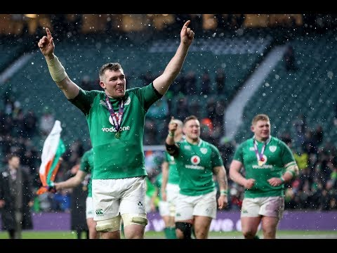 Celebration Time: Ireland players celebrate with the Grand Slam! | NatWest 6 Nations