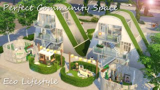 The perfect community space (market, garden and maker space combined!)  | The Sims 4 Speed Build