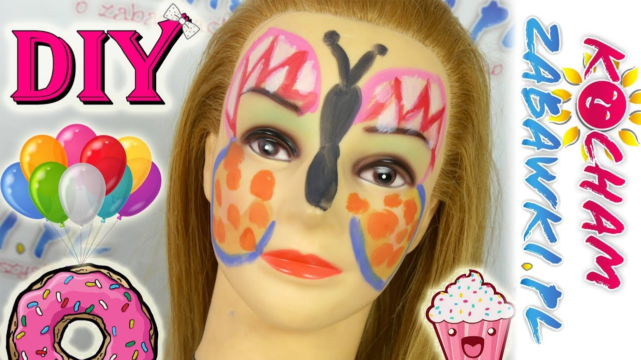 DIY • Makijaż na imprezę • Motylek • Zrób to sam • Kreatywne zabawy