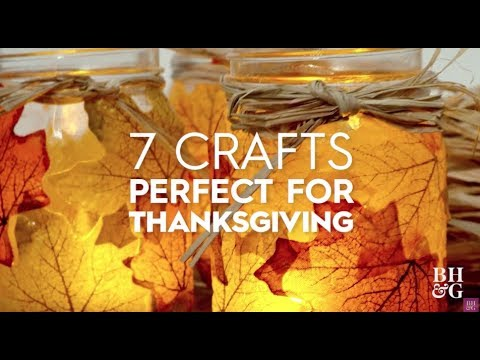 7 Crafts Perfect For Thanksgiving   Better Homes & Gardens