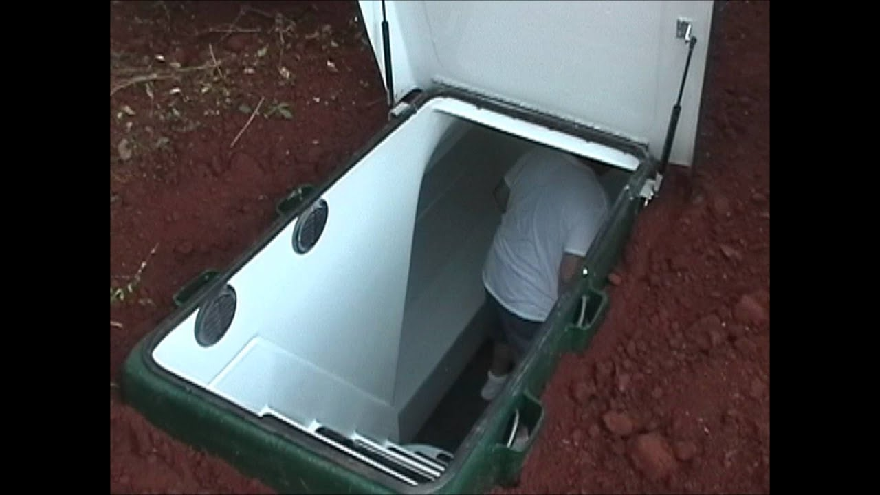 Storm Shelters Tour Of An Installed Underground