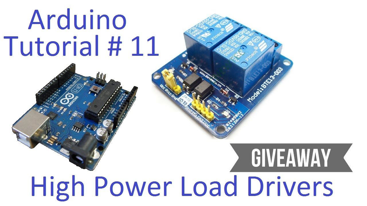Arduino 11 High Current Voltage Loads Tutorial Transistors Fab1248 Dc Converter 48volts Short Circuit Testing Build And Relays Youtube