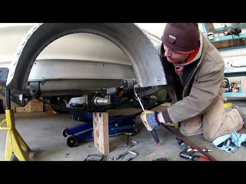 Replacing trailer springs on boat trailer