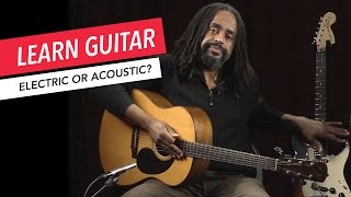 Beginner Guitar Lessons: Should I Play Electric or Acoustic Guitar? | Guitar | Lesson | Beginner