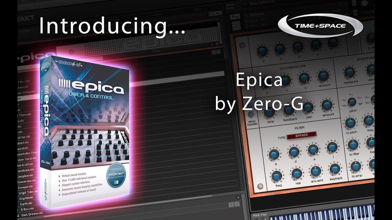 Zero-G Epica virtual sound module for the Free Kontakt Player