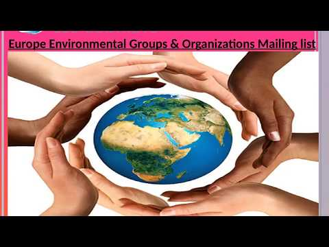 Europe Environmental Groups Organizations Mailing