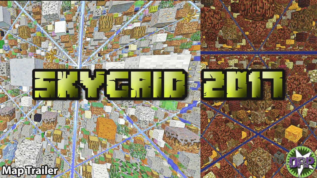 la map skygrid minecraft