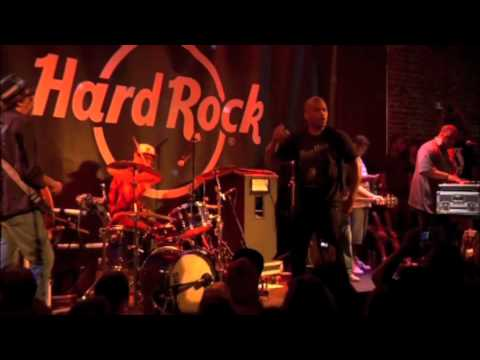 "DMC performs ""Rock Box"" at Hard Rock's 40th Anniversary party."