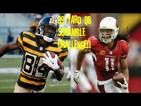 ANTONIO BROWN VS LARRY FITZGERALD!! WHO CAN GET A 99YD QB SCRAMBLE!! CRAZIEST JUKE EVER!!!