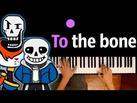 💀To the bone 💀НА РУССКОМ (Андертейл) feat. JT Music ● караоке   PIANO_KARAOKE ● ᴴᴰ + НОТЫ & MIDI