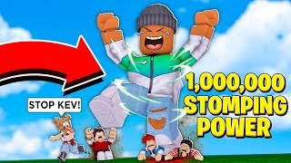 I got 1,000,000 STOMPING POWER and CRUSHED everyone in the game! (Roblox)