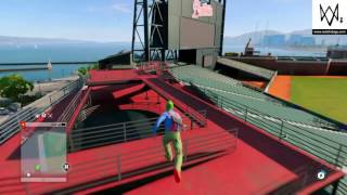 How to get inside the baseball stadium in Watch Dogs 2