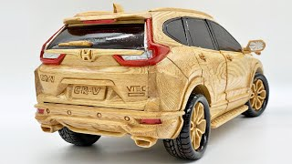 Wood Carving - HONDA CR V 2020 - Woodworking Art