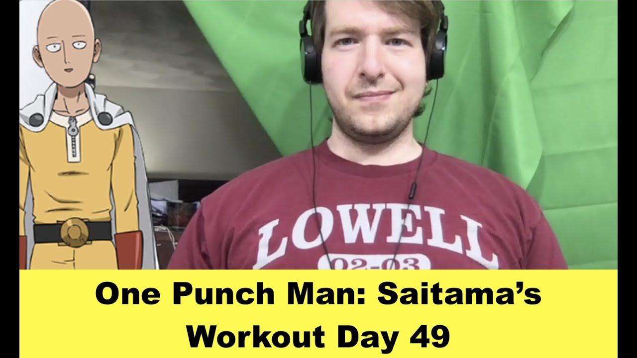 One Punch Man: Saitama's Workout Day 49 - YouTube