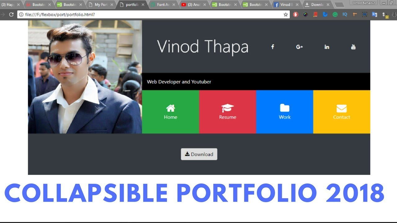 Create A Responsive Personal Portfolio Website With Html Css